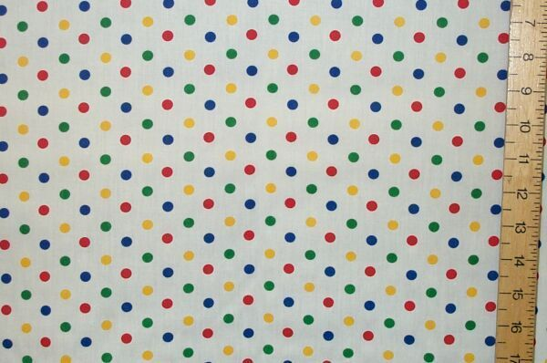 Polyester Cotton Polka Dot (med)