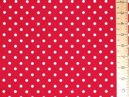 "Cotton - Polka Dot (Red, 54"" wide)"