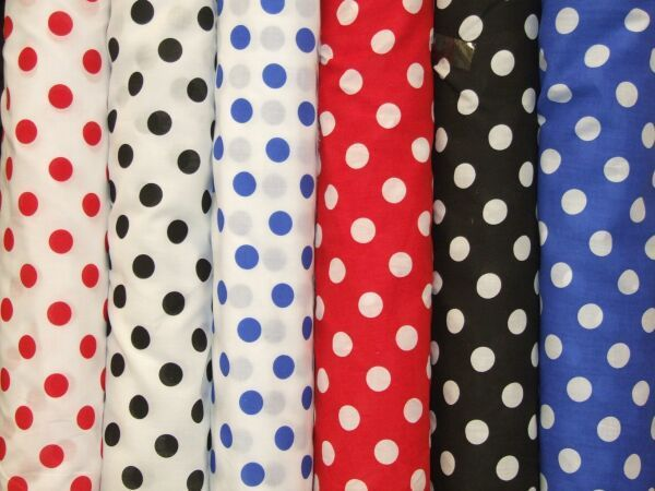 Polka Dot Polycotton