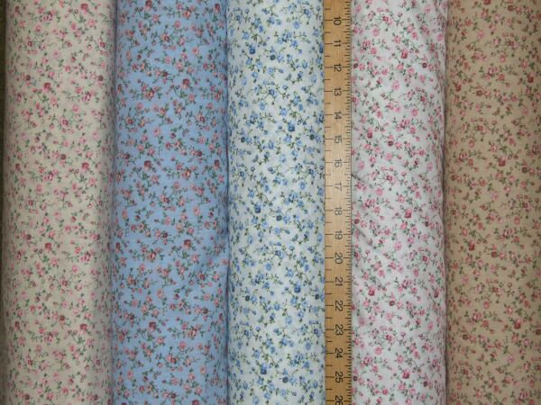 Polycotton Prints - Passion Rose