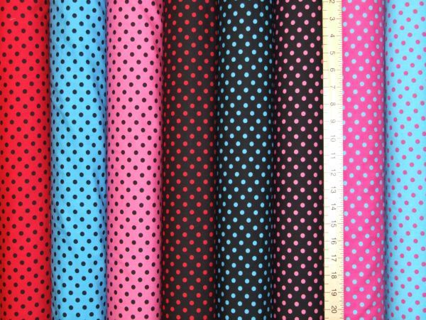 Pea Spot Polka Dot Pure Cotton
