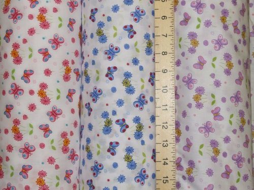 Butterfly Printed Polycotton