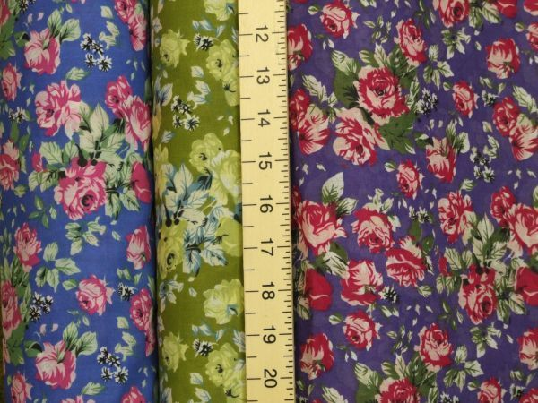 Spring Floral Printed Polycotton