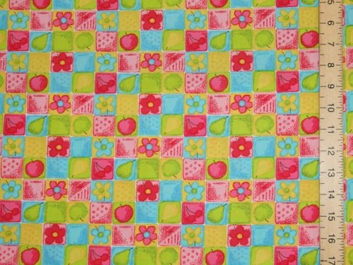 Fruit Print Pure Cotton (Yellow)