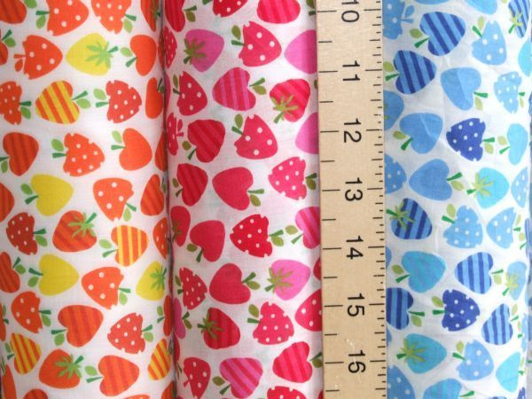 Printed Polycotton - Strawberry