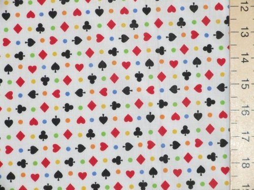 Printed Polycotton - Hearts & Spades
