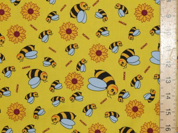 Printed Pure Cotton Honey Bees