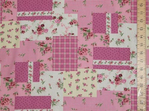 New Patchwork Printed Pure Cotton (Pink)