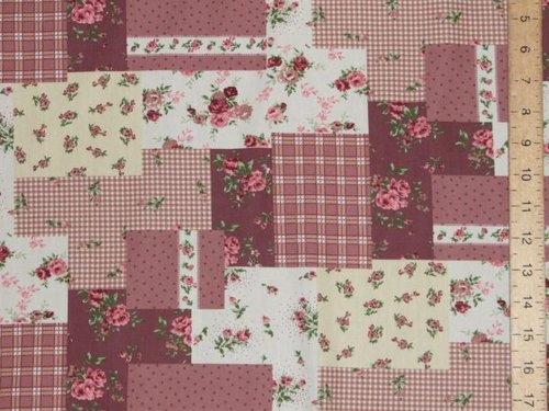 New Patchwork Printed Pure Cotton (Plum)