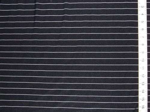 Stretch Cotton Jersey - Pin Stripe