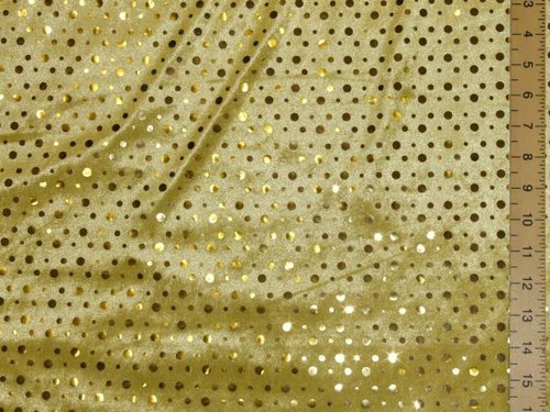 Stretch Sequin Velour (Golden-Yellow)
