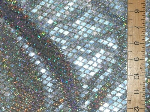 Diamond Hologram Sequins Fabric