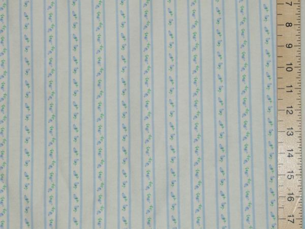 Brushed Cotton - Winceytte (Blue Stripes)
