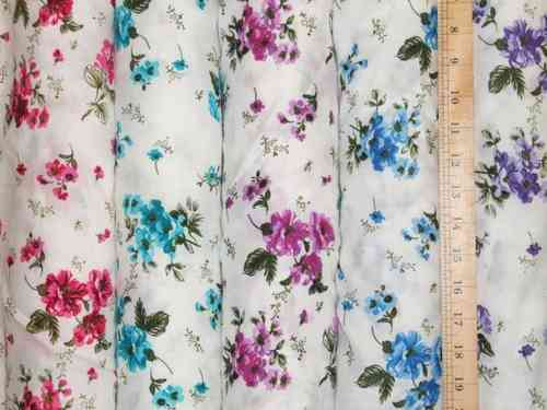 "Floral Cotton Viscose 58"" wide"