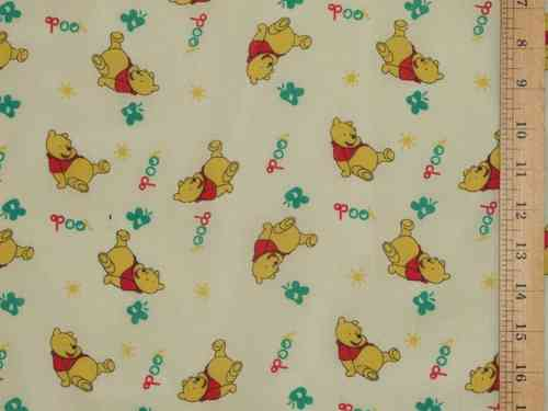 Pooh Printed Polycotton - Cream
