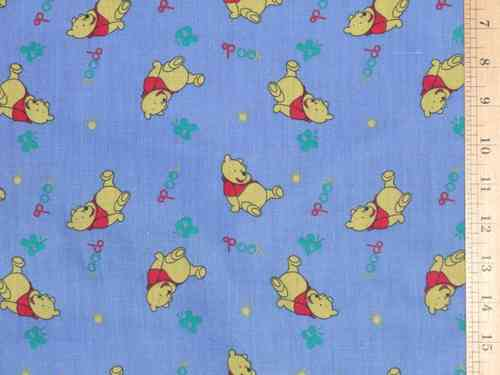 Pooh Printed Polycotton - Blue