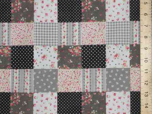 Patchwork Polycotton Fabric (p/c Black)