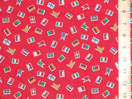 Printed Pure Cotton Fabric - Flags