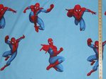Printed Pure Cotton Fabric - Spiderman
