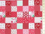Printed PatchWork Pure Cotton Fabric - Red