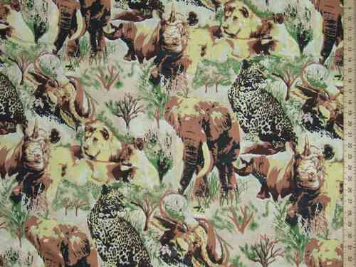 "Polyester Jungle Print (90"" wide)"