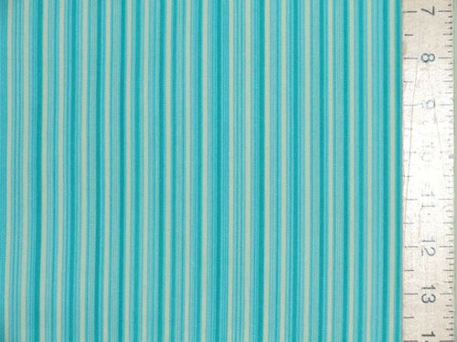 "CLEARANCE: Polycotton Stripe Fabric 45"" wide - SAVE 50%"