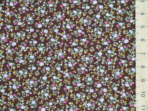 Printed Polycotton Fabric (brown)