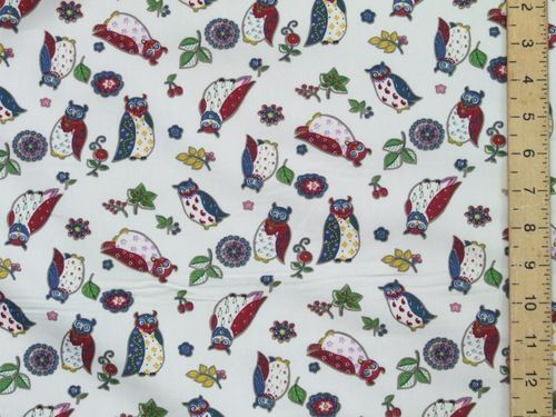 Owl Print Pure Cotton