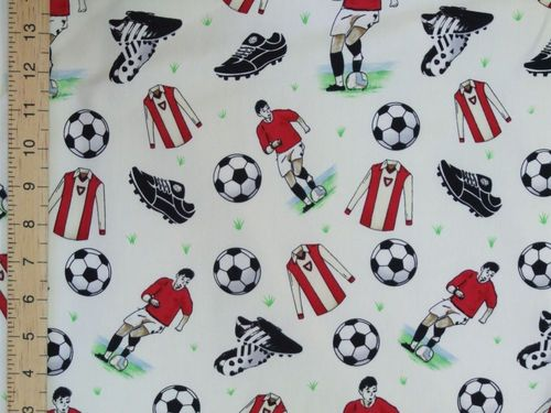 Footballers Printed Pure Cotton (Ivory)