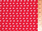 Bows Design Polycotton Fabric (Red)