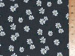 100% Cotton Prints - Small Daisey (Black)