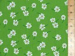 100% Cotton Prints - Small Daisey (Lime)