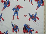 Printed Pure Cotton Fabric - Superman