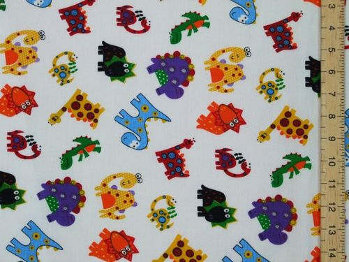 Dragons Printed Polycotton Fabric