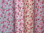 Rose Print Polycotton Fabric