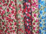 Large Rose Print Polycotton Fabric