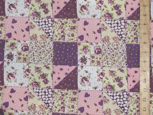 Patchwork Printed Polycotton Fabric