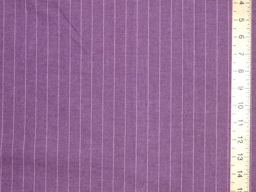 "CLEARANCE: Stretch Stripe Pure Cotton (Purple) 60"" wide SAVE 60%"