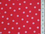 Sailer Wheel Print Polycotton (Red)