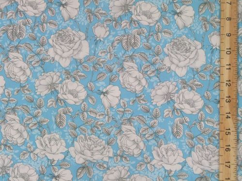 Pretty Floral Print Pure Cotton Fabric