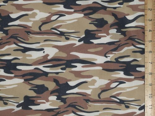 Camouflage Print Polycotton