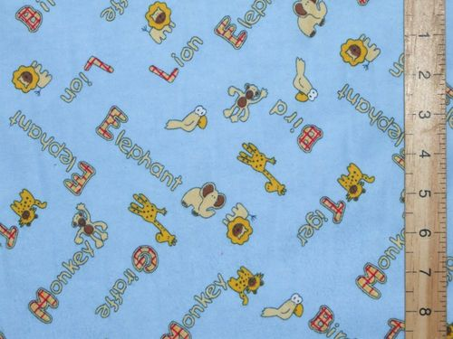 "Printed Brushed Cotton - Winceytte 58"" wide (Blue)"