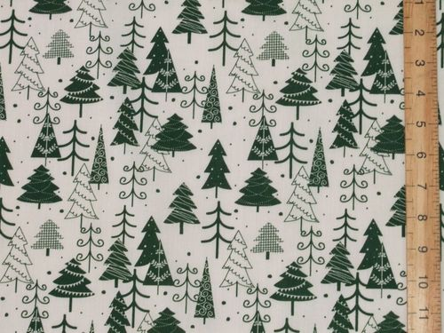 Xmas Trees Printed Polycotton Fabric (W&G)