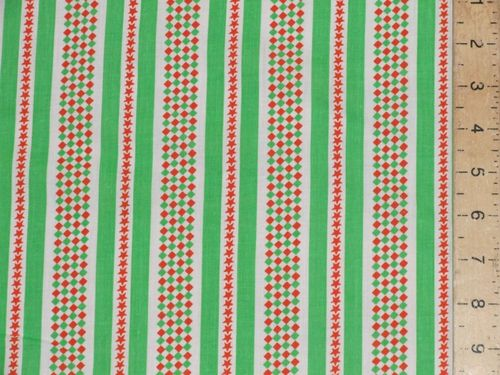 "CLEARANCE: Stripe Cotton (Green) 58"" wide SAVE 50%"
