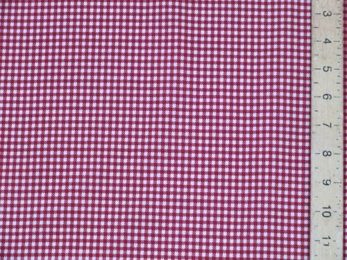 "CLEARANCE: Checked Cotton Fabric 60"" wide - SAVE 60%"