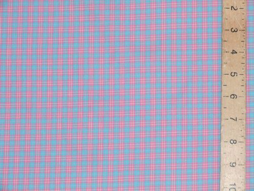 "CLEARANCE: Checked Soft Cotton Fabric 60"" wide - SAVE 60%"