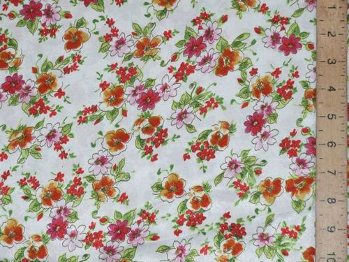 "CLEARANCE: Printed Sateen Fabric 60"" wide - SAVE 50%"