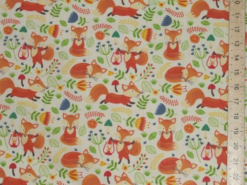 Printed Polycotton - Foxes
