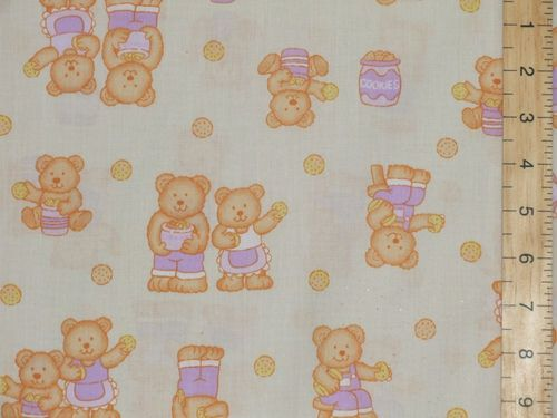 Printed Polycottons - Teddy Cream