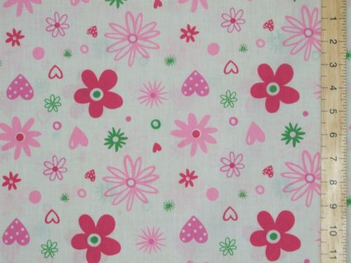 Printed Polycotton Fabric Floral